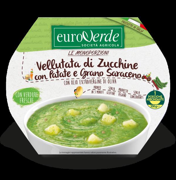Vellutata di zucchine e grano saraceno Euroverde.