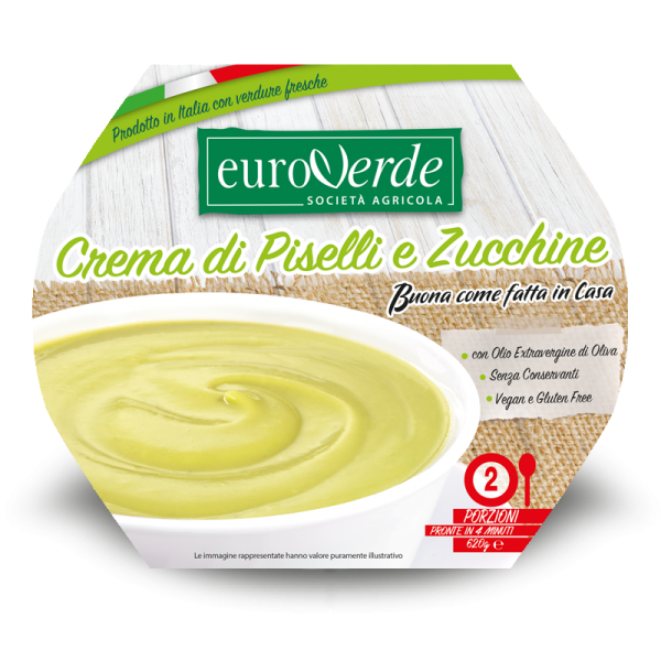Crema di piselli e zucchine Euroverde