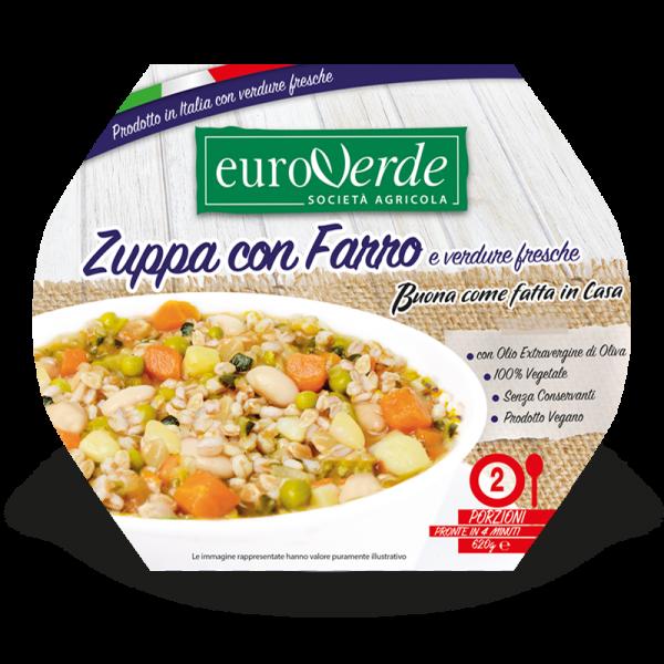 Zuppa con farro e verdure fresche Euroverde
